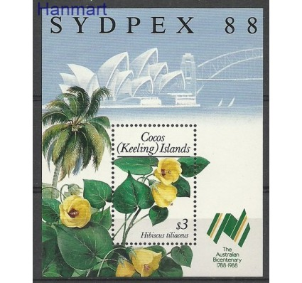 Znaczek Wyspy Kokosowe / Keelinga 1988 Mi bl 7 Czyste **