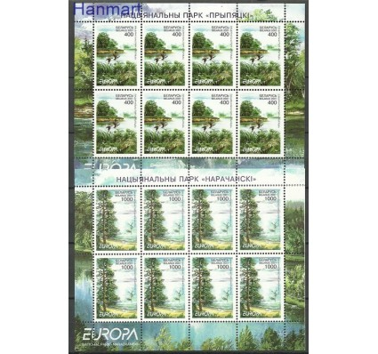 Znaczek Białoruś 2001 Mi ark 409-410 Czyste **