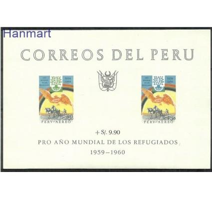 Znaczek Peru 1960 Mi bl 3 Czyste **