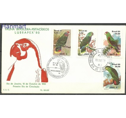 Znaczek Brazylia 1980 Mi 1789-1792 FDC