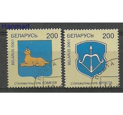 Znaczek Białoruś 2001 Mi 396-397 Stemplowane