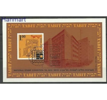 Znaczek Izrael 1970 Mi bl 7 Stemplowane
