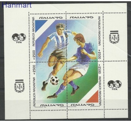 Znaczek Argentyna 1990 Mi bl 40 Czyste **