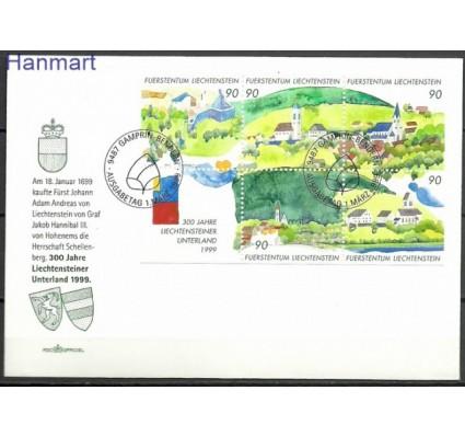 Znaczek Liechtenstein 1999 Mi bl 16 FDC