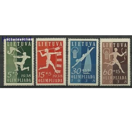 Znaczek Litwa 1938 Mi 417-420 Z podlepką *