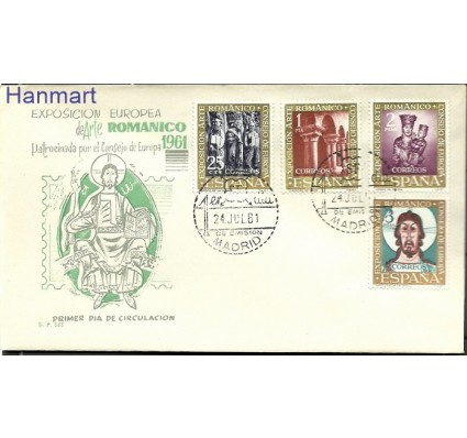 Znaczek Hiszpania 1961 FDC