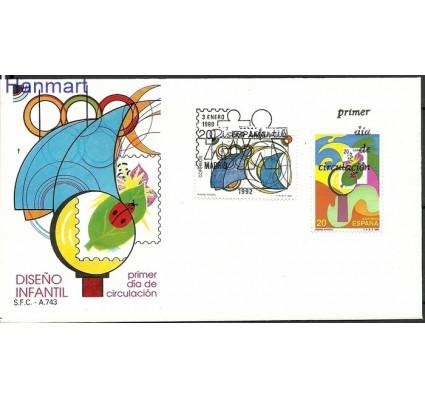 Znaczek Hiszpania 1989 Mi 2867-2868 FDC