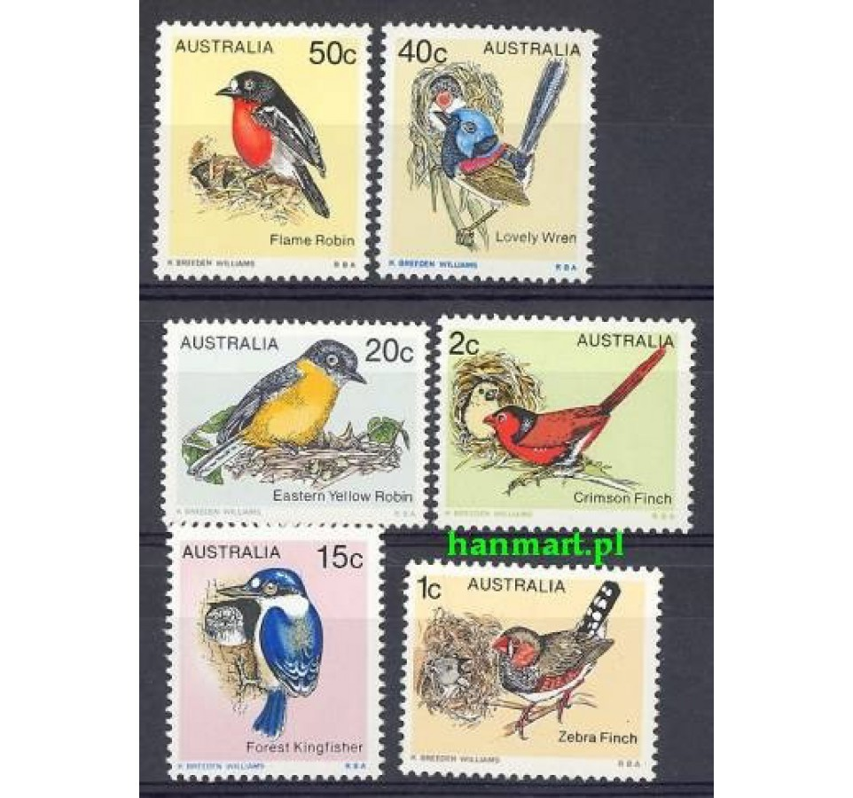 Australia 1979 Mi 686-691 Czyste **