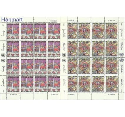 Znaczek Narody Zjednoczone Genewa 1983 Mi ark 117-118 Czyste **