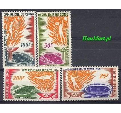 Znaczek Kongo 1964 Mi 52-55 Czyste **