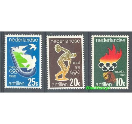 Znaczek Antyle Holenderskie 1968 Mi 187-189 Czyste **
