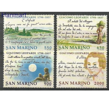 Znaczek San Marino 1998 Mi 1770-1773 Czyste **