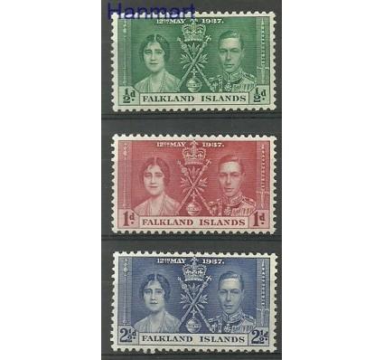 Znaczek Falklandy 1937 Mi 75-77 Czyste **