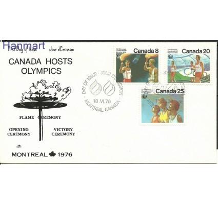 Znaczek Kanada 1976 Mi 630-632 FDC