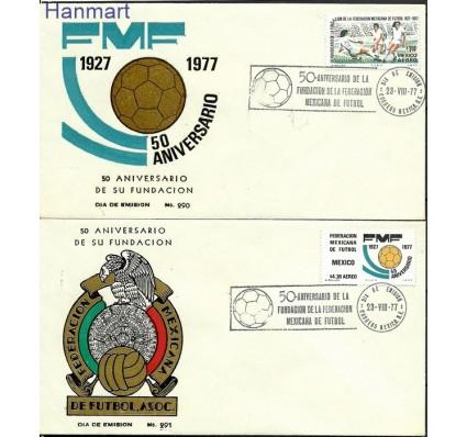Znaczek Meksyk 1977 Mi 1551-1552 FDC