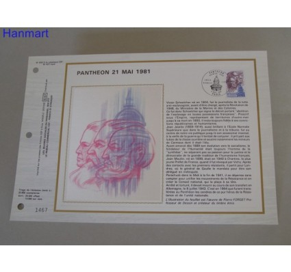 Znaczek Francja 1981 Mi 2290 Pierwszy dzień wydania
