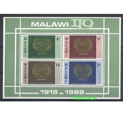 Znaczek Malawi 1969 Mi bl 13 Czyste **