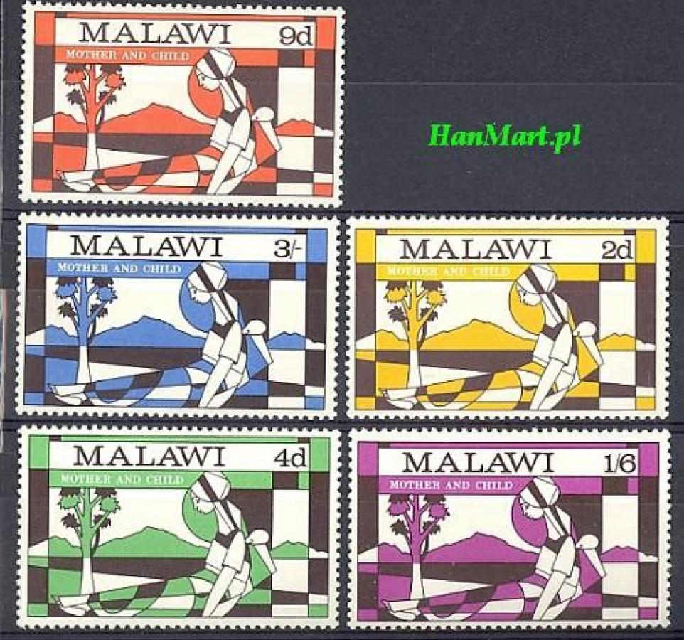 Malawi 1970 Mi 138-142 Czyste **