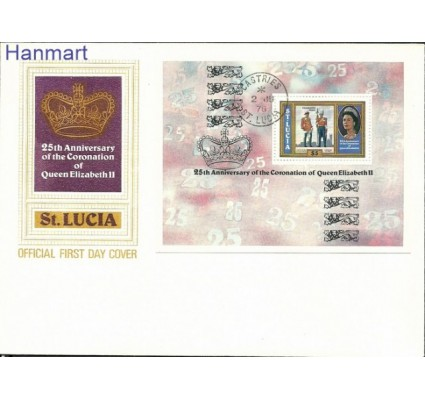 Znaczek Saint Lucia 1978 Mi bl 15 FDC