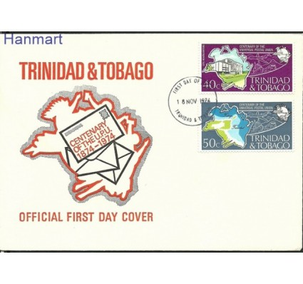 Znaczek Trynidad i Tobago 1974 Mi 328-329 FDC