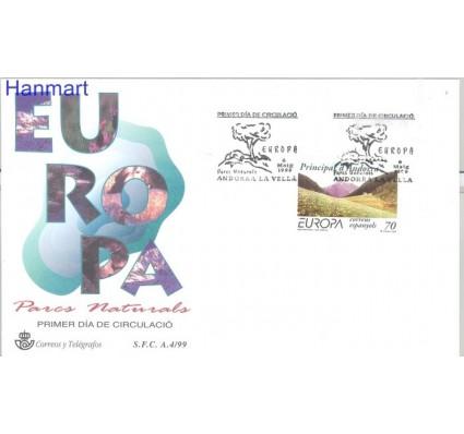 Znaczek Andora Hiszpańska 1999 Mi 267 FDC