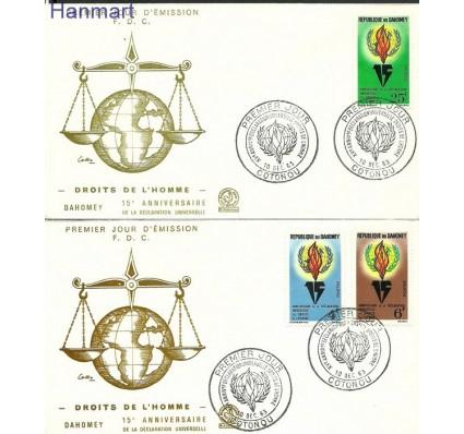 Znaczek Dahomej 1963 Mi 229-231 FDC