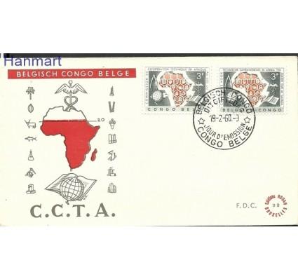 Znaczek Kongo Belgijskie 1960 Mi 358-359 FDC