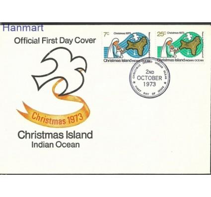 Znaczek Wyspa Bożego Narodzenia 1973 Mi 59-60 FDC