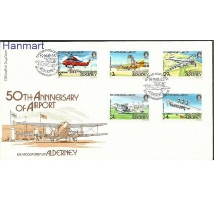 Znaczek Alderney 1985 Mi 18-22 FDC