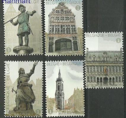 Znaczek Belgia 2013 Mi 4415-4419 Czyste **
