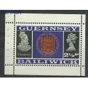 Guernsey 1969 Mi h-blatt O-6 Czyste **