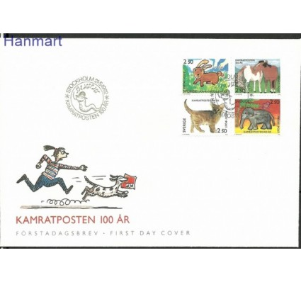 Znaczek Szwecja 1992 Mi 1717-1720 FDC
