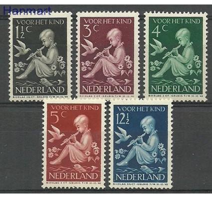 Znaczek Holandia 1940 Mi 375-379 Z podlepką *