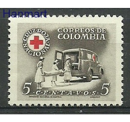 Znaczek Kolumbia 1958 Mi zwa 57 Czyste **