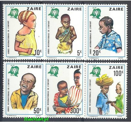 Znaczek Kongo Kinszasa / Zair 1979 Mi 613-618 Czyste **
