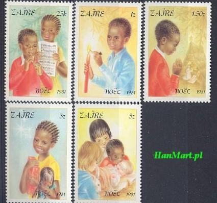 Znaczek Kongo Kinszasa / Zair 1981 Mi 740-745 Czyste **