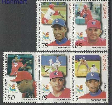 Znaczek Kuba 2002 Mi 4467-4471 Czyste **