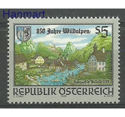 Znaczek Austria 1989 Mi 1969 Czyste **
