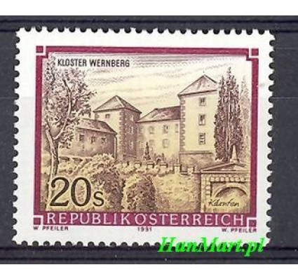 Znaczek Austria 1991 Mi 2025 Czyste **