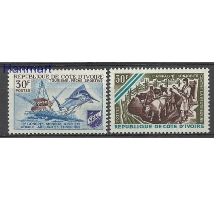 Znaczek Wybrzeże Kości Słoniowej 1969 Mi 351-352 Czyste **
