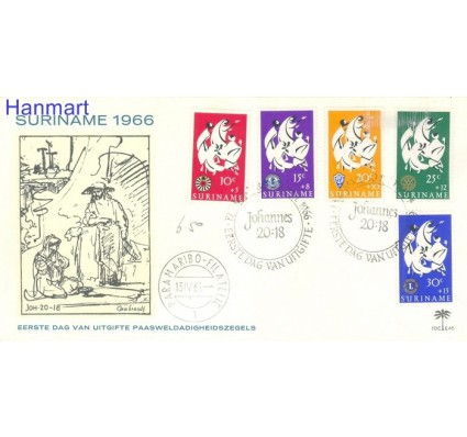 Znaczek Surinam 1966 FDC