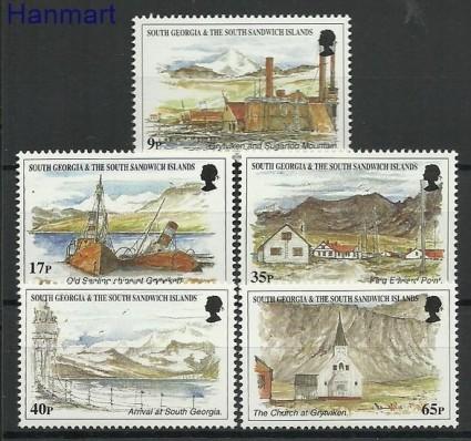 Znaczek Wyspy Georgia Pd. i Sandwich Pd. 1999 Mi 278-282 Czyste **