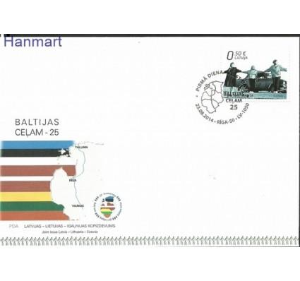 Znaczek Łotwa 2014 Mi 915 FDC