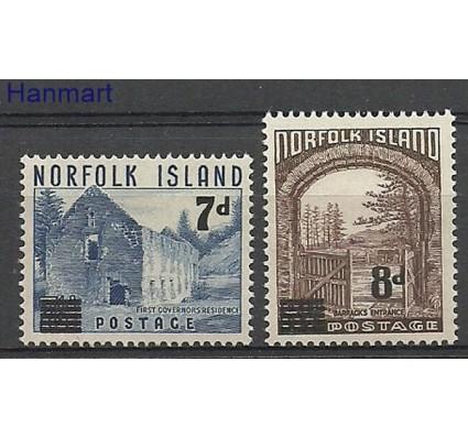 Znaczek Norfolk 1958 Mi 23-24 Z podlepką *