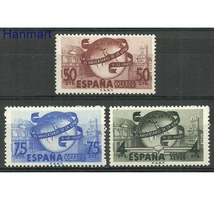 Znaczek Hiszpania 1949 Mi 969-971 Z podlepką *