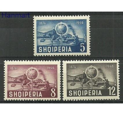 Znaczek Albania 1950 Mi 482-484 Z podlepką *