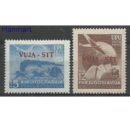 Znaczek Triest - Jugosławia Zone B 1949 Mi 22-23 Z podlepką *