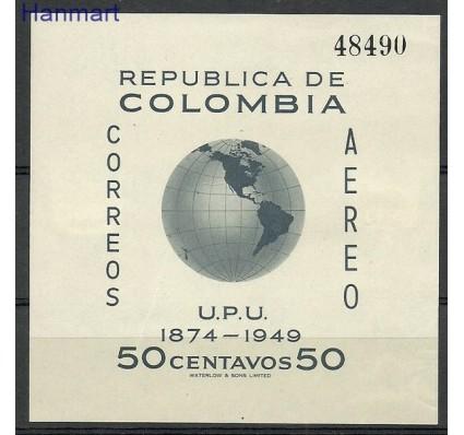 Znaczek Kolumbia 1950 Mi bl 5 Z podlepką *