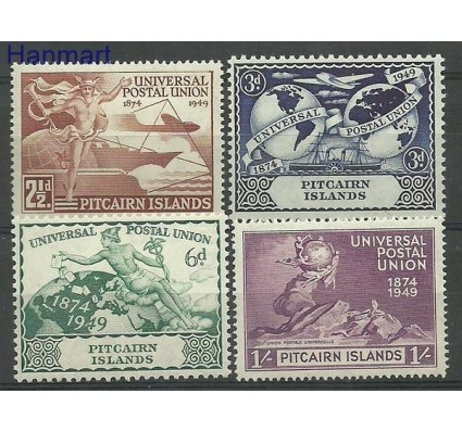 Znaczek Pitcairn 1949 Mi 15-18 Z podlepką *