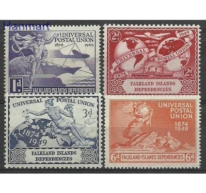 Znaczek Dependencja Falklandów 1949 Mi 14-17 Z podlepką *